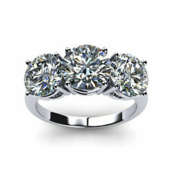 Solid 18k White Gold Band Real 1.10 Ct Round Diamond Engagement Ring Size 7 8 9