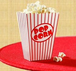 Movie Theater Small Popcorn Boxes Striped Red And White - Lot Of 240 Boxes