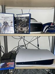 Sony Ps5 Blu-ray Edition Console - White With Psvr, Move Controller And 2 Games