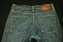 Gustin Skinny Fit Selvage Denim Button Fly Jeans Made In Usa Fades Started 33