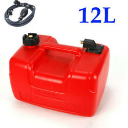 12l For Outboard Motot Boat Marine Fuel Gas Tank With Male Connector + Fuel Line