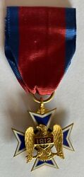 Rare Early Us Military Society War Of 1812 Membership Medal In Gold 1894 No. 990