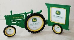 John Deere Pewter Collection 3d Tractor Picture Frame Holds 4 Photos - Brand New