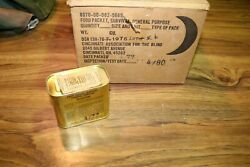 Nos Vintage Us Military Survival Food Packet General Purpose Ration 1977 Tin Can