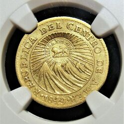 Costa Rica Republic Gold Counterstamped Escudo Nd 1849-1857 Xf45 Ngc.