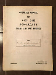 Continental Overhaul Manual For C-125 C-145 And O-300-a/b/c/d/e Engines