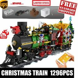 12012pcs Remote Control Train Model Building Blocks Toy Winter Christmas Gifts