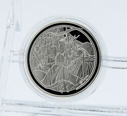 2003 New Zealand Queen Elizabeth Ii Lord Of The Rings Witch-king Silver 1 Coin