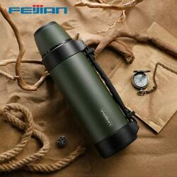 Feijian Military Thermos, Travel Portable Thermos For Tea, Large Cup Mugs For Co