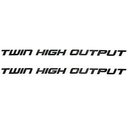 Sea-doo New Oem Sport Boat Grey Twin High Output 11 1/4 Inch Vinyl Decal Pair