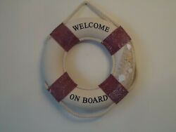 Large Ship Lifebelt 46 Cm Welcome On Board With Shells And Net/life Buoy Ring Belt