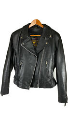 Barney#x27;s Leather Women#x27;s Motorcycle Jacket Size L With Removable Liner $120.00