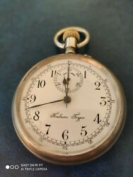 Rare Paul Buhre Chronograph Antique Wwi Imperial Russia Poсket Watch