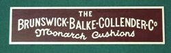 Replacement Nameplate For Brunswick Balke Collender Antique Pool Tables