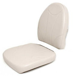 Tempress Boat Seat Cushions | Faux Leather Off White 2pc - Tears
