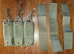 Firstspear Pistol 3 Mag Shingle 6/9 Molle Belt Ranger Green Triple Pouch Old Scl