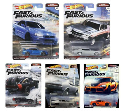 2021 Hot Wheels Fast Superstars Set Of 5 Cars Fast And Furious Diecast Read Desc.