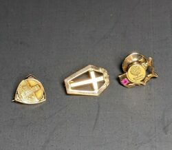 3 - 10k Yellow Gold Service Pins 4.6 Grams Scrap Or Not