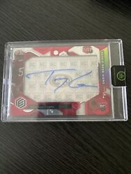 Trey Lance 2021 Elements Rookie Neon Signs Red On Card Auto 7/10 Rc. 49ers