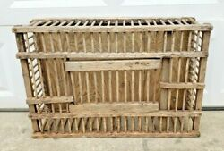 Vintage Large Primitive Wood Chicken Crate Coffee Table Carrier Box Cage Coop
