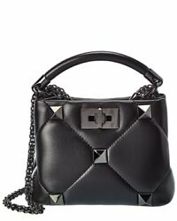 Valentino Roman Stud Leather Shoulder Bag Womenand039s