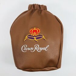 Empty Crown Royal Collectible Football Bag Faux Leather Zipper Fits 750ml