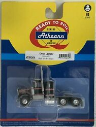 Athearn Ho Kw Kenworth Owner-operator Truck Tractor Black/red Stps 1/87 Ath92656