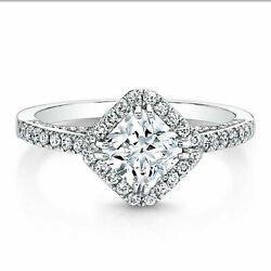 1.22 Ct Real Diamond Engagement Ring Solid 14k White Gold Band Size 5 6 7 8