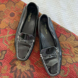 Cole Haan Resort Driving Loafers 8.5 8 1/2 Black Patent Leather Slip On Mocassin