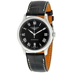 Longines L2.755.4.51.7 Master Collection 38.5mm Menand039s Black Leather Watch