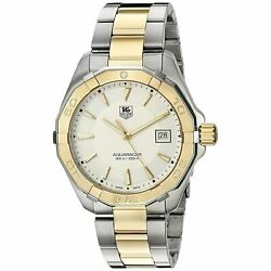 Tag Heuer Way1120.bb0930 Aquaracer 40mm Menand039s Two-tone Stainless Steel Watch