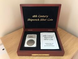 18th Century Shipwrecked Silver 1777 Coin Eight Reale Pieces Of Eight And Box
