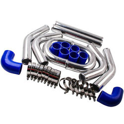 2.5 Aluminum Universal Turbo Intercooler Pipe Piping Duct Kit W/bolt Clamps