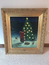 Christopher Radko Limited Edition Framed Oil Painting 1996 First Glow