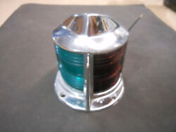 Vintage Boat Bow Light Nautical Marine With Red And Green Lens