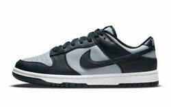 Size 8.5 10 - Nike Dunk Low Georgetown Black White Navy Dd1391-003 In-hand