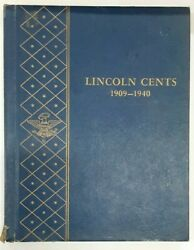 1909-1940 Lincoln Cents Deluxe Whitman Coin Album 9405 - Includes 1909-s Vdb