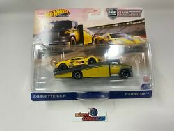 In Stock Corvette C8.r And Carry On 2021 Hot Wheels Team Transport