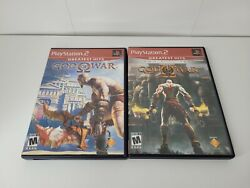 God Of War 1 And 2 Ps2 Sony Playstation 2 Video Game Bundle Lot Tested