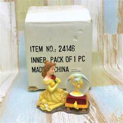 Disney Beauty And The Beast Bell Lumiere Snow Globe With Box Pottery Resin Glass