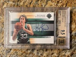 Larry Bird Bgs 9.5 / 10 2005 Ultimate Collection Signatures Auto Autograph