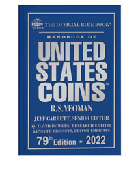 New Official Red Book Price Guide For Us Coins + Blue Book 2022 Hardcover Bundle