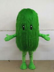 2020 Hairy Green Seaweed Mascot Costume Suits Cosplay Party Game Dress Ad