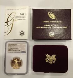 2021-w Proof American Gold Eagle Type 1 25 1/2 Oz Ngc Pf69 Uc Early Releases