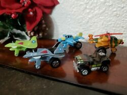 Micro Machines Lot Of 5 Airplanes Jeep Helicopter