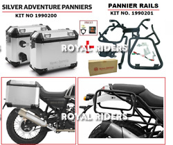 Royal Enfield Himalayan Pannier Pair Silver And Mounting Rails - Free Oil Filter