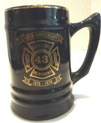 Vintage 100th Anniversary Stein 43 Mt Kisco Ny Fire Dept 1878-1978 5 Tall