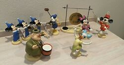 Wdcc Mickey Mouse Club 50th Anniversary 9 Pieces Humphrey Woodlore Boxes Coas