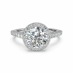 1.00 Ct Solitaire Diamond Rings Solid 14k White Gold Band Size Nmop