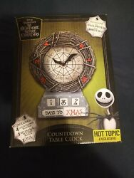 Nightmare Before Christmas Countdown Table Clock Hot Topic Exclusive Rare